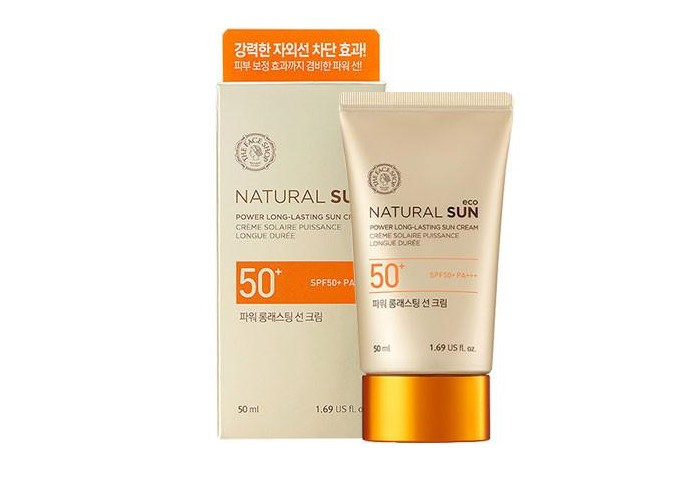 Kem chống nắng The face shop Natural Sun Eco Ice Air Puff Sun SPF 50+ PA+++